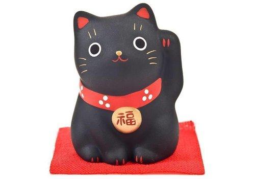 Fine Asianliving Chat Porte-Bonheur Maneki Neko Noir