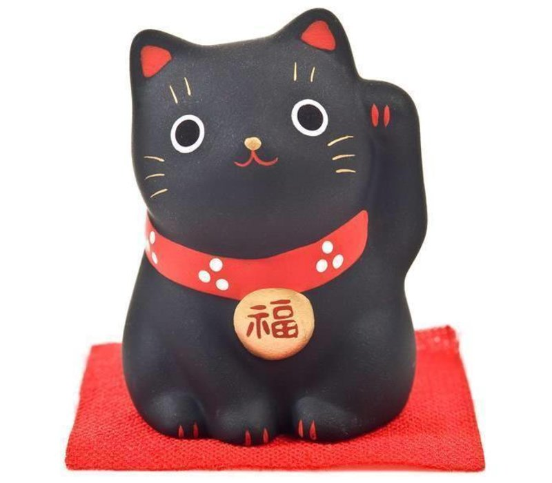 Lucky Cat Maneki Neko Black