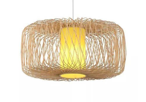 "Fine Asianliving Ceiling Light Pendant Lighting Bamboo Lampshade Handmade - ""Noelle"""