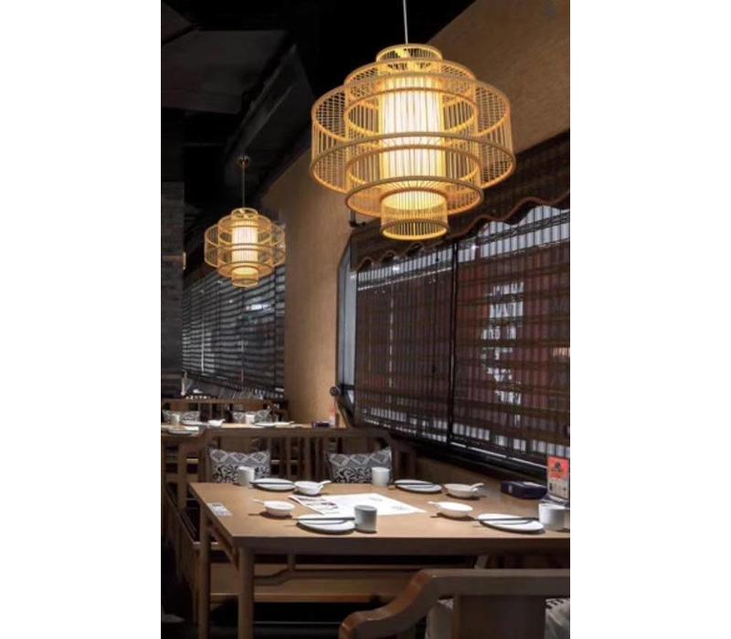 Fine Asianliving Ceiling Light Pendant Lighting Bamboo Lampshade Handmade - Leona