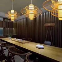 Fine Asianliving Ceiling Light Pendant Lighting Bamboo Lampshade Handmade - Nicole