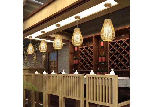 Fine Asianliving Bamboe Hanglamp Met Bloemen