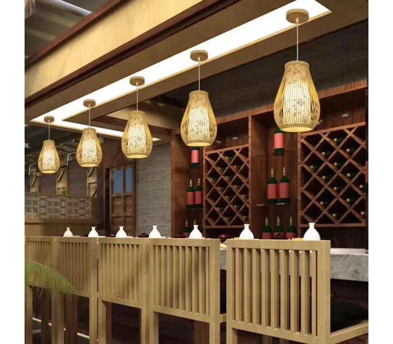 Fine Asianliving Lampara de techo Bambú Lampara Colgante Hecho a mano - Chloe