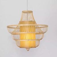 Fine Asianliving Ceiling Light Pendant Lighting Bamboo Lampshade Handmade - Julie