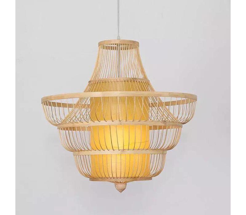 Fine Asianliving Deckenleuchte Pendelleuchte Beleuchtung Bambus Lampenschirm Handgefertigt - Julie