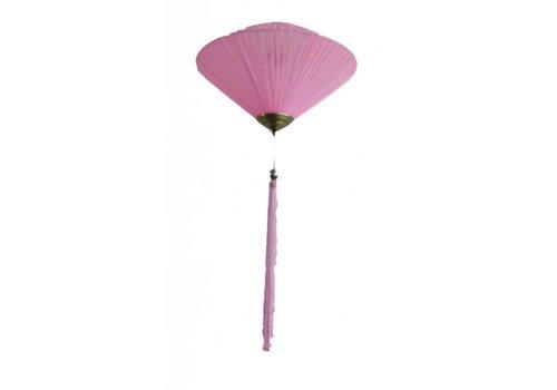 Fine Asianliving Chinese Lantern Diamond Pink Silk Small