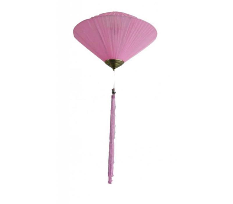 Fine Asianliving Chinese Lantern Diamond Pink Silk Large