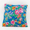 Fine Asianliving Chinese Cushion Catoen Flowers Blue
