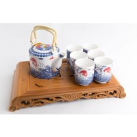 Chinese Tea Set Porcelain Chinese Carps