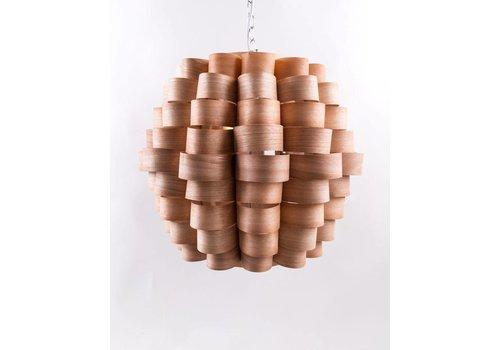 Fine Asianliving Lámpara de Techo Colgante de Madera Hecha a Mano - Madeira Colección A60xP60xA45cm