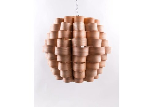 Fine Asianliving Pendelleuchte Hängelampe Holz Handgefertigt - Madeira Sammlung B60xT60xH45cm