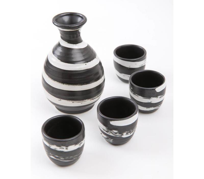 Japanse Sake Set Zwart-Wit