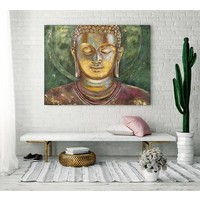 Painting Buddha Handpainted