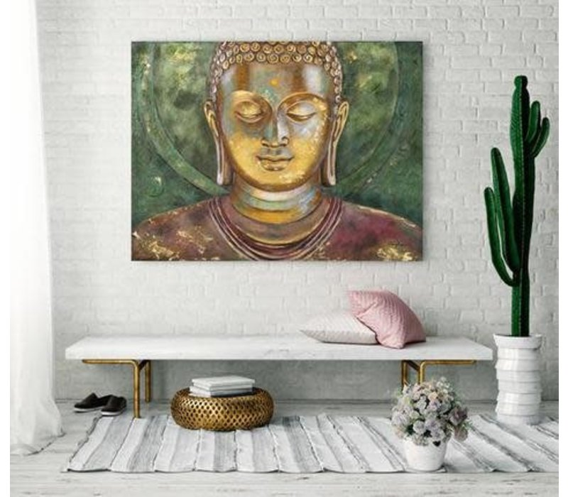 Schilderij Boeddha Handgeschilderd