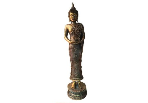 Fine Asianliving Standing Thai Buddha Teal