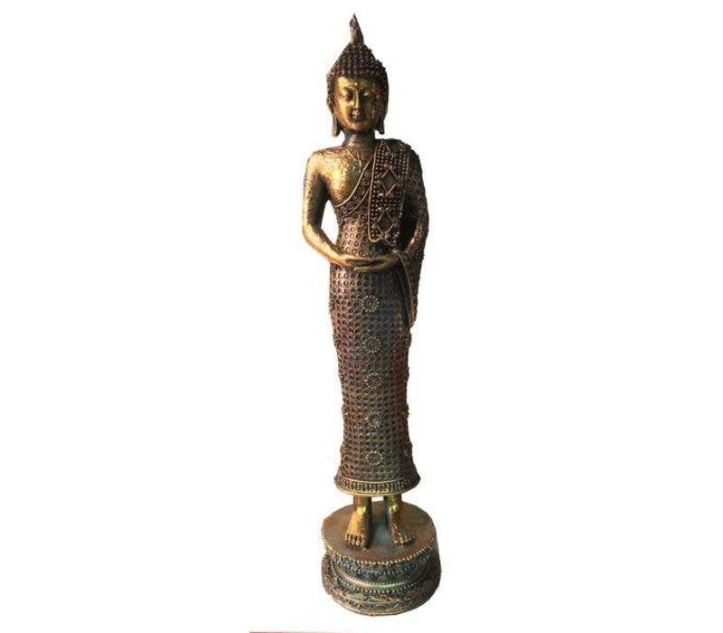 Staande Thai Boeddha Teal