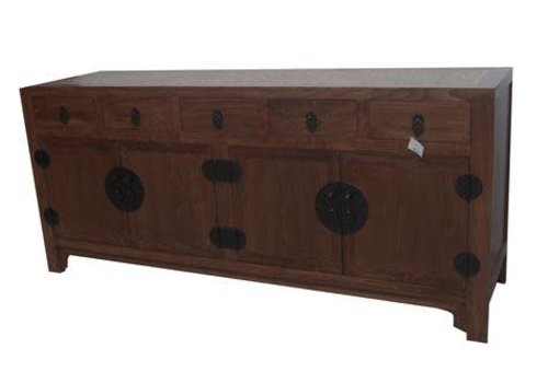 Fine Asianliving Chinese Sideboard White handwoven Bamboo Brown