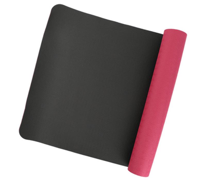 Yoga mat bourdeaux black 100% TPE