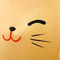 Lucky Cat Maneki Neko Small - Better Fortune Gold 5.5 cm