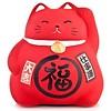 Fine Asianliving Lucky Cat Maneki Neko Red - Work