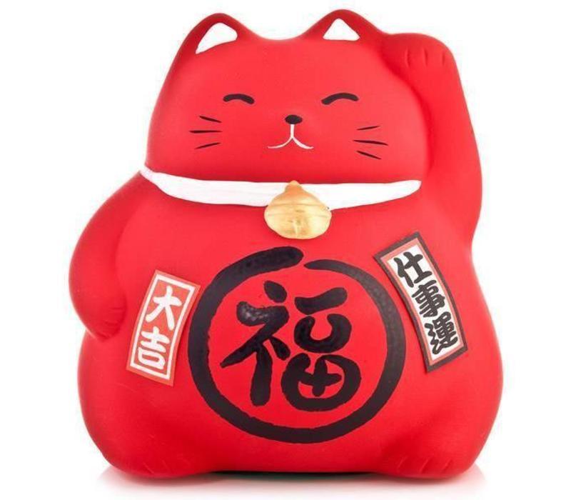 Winkekatze Maneki Neko Rot - Arbeit