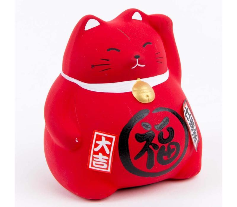 Lucky Cat Maneki Neko Red - Work