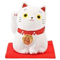 Lucky Cat Maneki Neko White