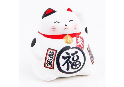 Fine Asianliving Chat Porte-Bonheur Maneki Neko Blanc - Meilleure Fortune