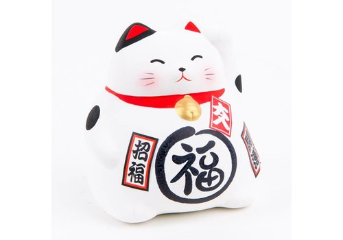 Fine Asianliving Lucky Cat Maneki Neko White - Better Fortune