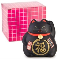 Lucky Cat Maneki Neko Black - Against Bad Luck