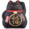 Fine Asianliving Lucky Cat Maneki Neko Black - Against Bad Luck