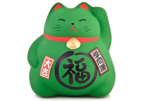 Fine Asianliving Lucky Cat Spaarpot Groen - Study