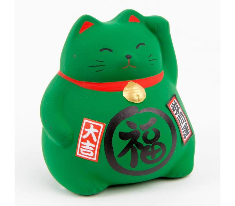 Lucky Cat Money box Green - Study