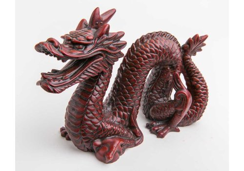 Fine Asianliving Chinese Draak Middel Donkerrood
