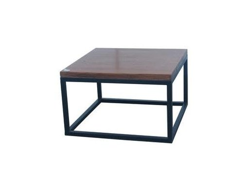 Fine Asianliving Chinese Coffee Table Contemporary Solid Yuwood Black Steel W65xD65xH40cm