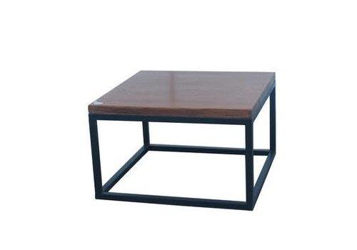 Fine Asianliving Chinesischer Couchtisch Modern Holz und Stahl B65xT65xH40cm