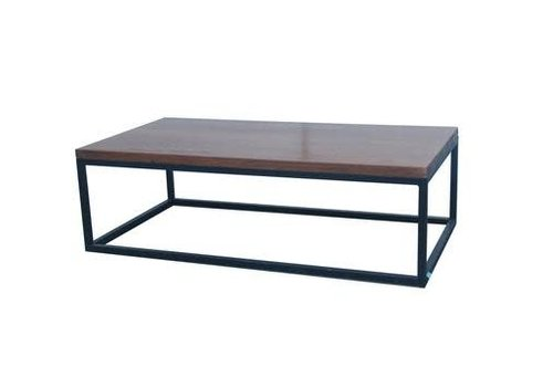 Fine Asianliving Chinese Salontafel Dark Massief Yuwood Black Steel B130xD70xH40cm
