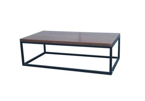 Fine Asianliving Tavolino Cinese Moderno in Legno e Acciaio L130xP70xA40cm