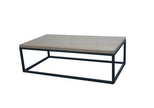 Fine Asianliving Chinesischer Couchtisch Modern Holz und Stahl B130xT70xH40cm