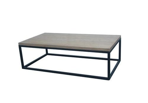Fine Asianliving Table Basse Contemporaine Chinoise en Bois Noire L130xP70xH40cm