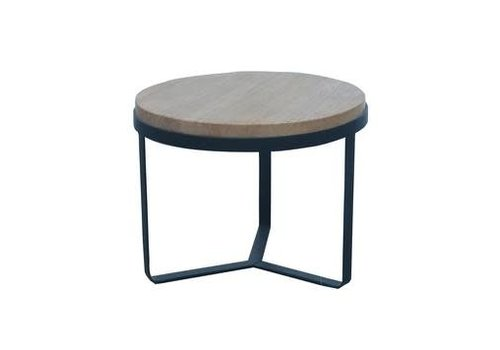 Fine Asianliving Fine Asianliving Coffee Table Round Wood/Staal Light