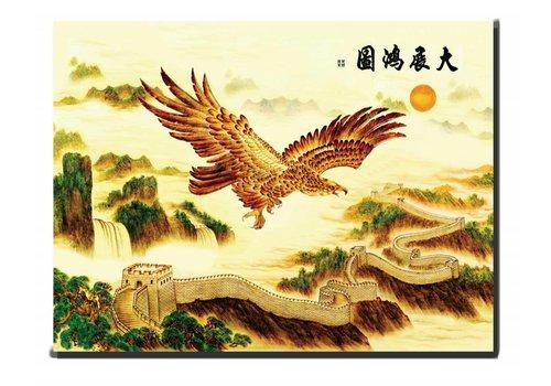 Fine Asianliving Canvas Schilderij Wanddecoratie Adelaar 90 x 120 cm