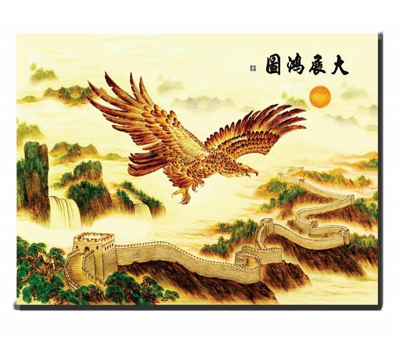 Canvas Schilderij Wanddecoratie Adelaar 90 x 120 cm