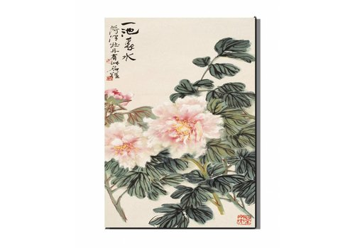 Fine Asianliving Canvas Painting Wall Art LotusFlowers 50 x 70 cm