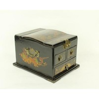 Tibetan Mirror Jewelry Box Black