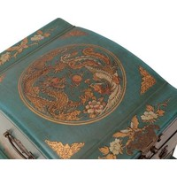 Tibetan Mirror Jewelry box Blue
