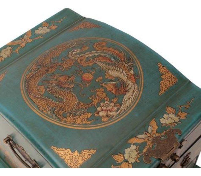 Tibetaanse Spiegel Sieradendoos Blauw