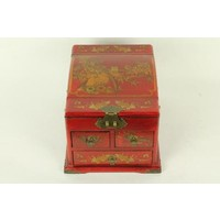 Tibetan Mirror Jewelry Box Red