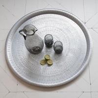 Schaal Zilver met Antieke Uitstraling Large
