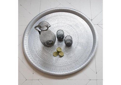Fine Asianliving Antique Designed Silver Plate Religious Texture Large